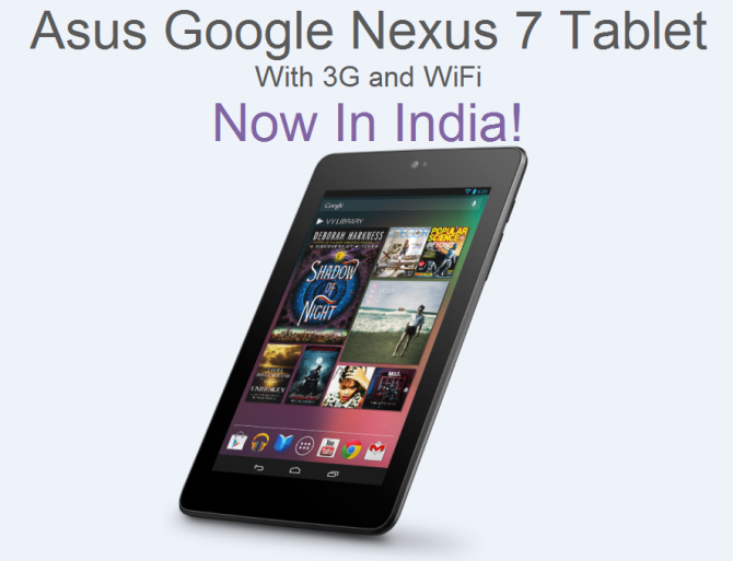 Asus Nexus 7 3G Now In India