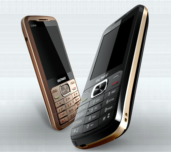 Gionee launched L800 feature phone in India for Rs. 2,599