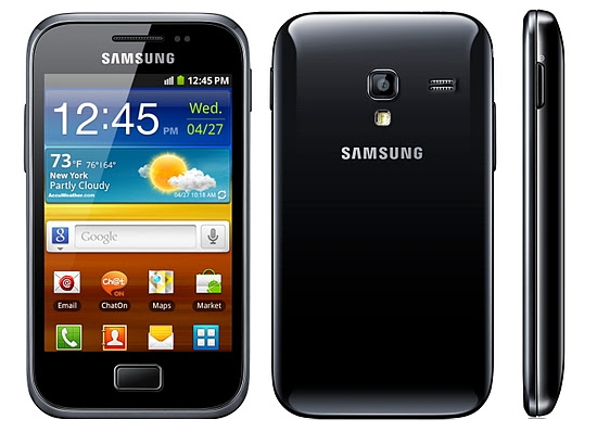 Galaxy Ace Plus used as an illustration