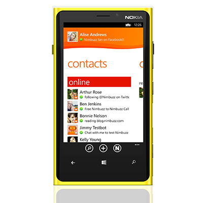Nimbuzz For Windows Phone 8