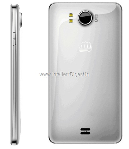 Micromax Canvas Doodle A111 Side and Rear