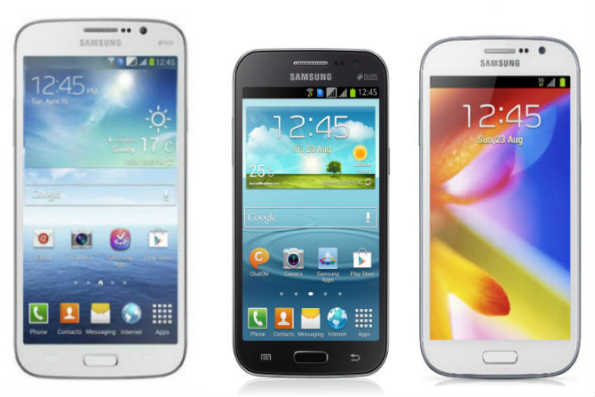Galaxy Mega 5.8 vs Galaxy Grand Quattro vs Galaxy Grand Duos