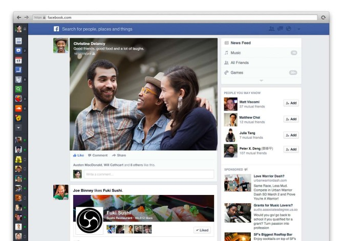 How to get Facebook's new news feed design immediately