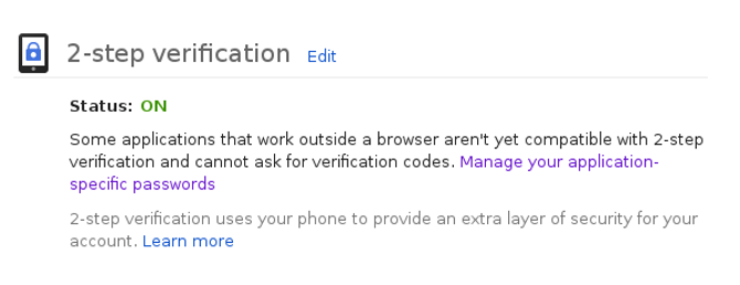 2-step verification success