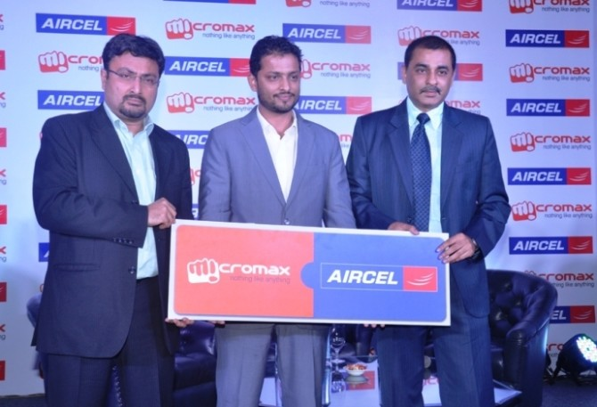 Aircel Micromax Partnership in India