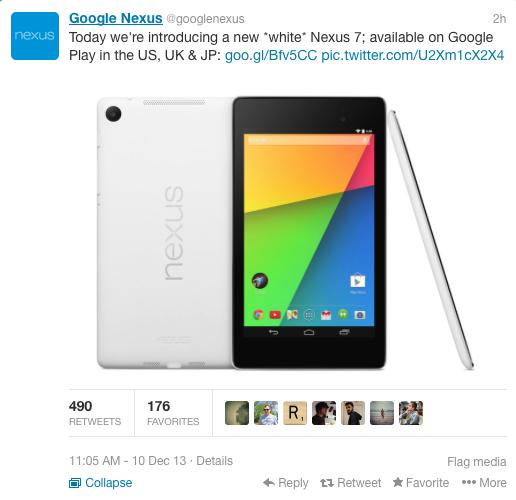Google Nexus 7 White Color