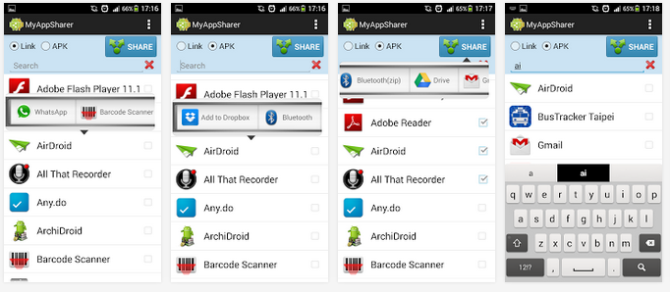How to share android apps with other android smartphone