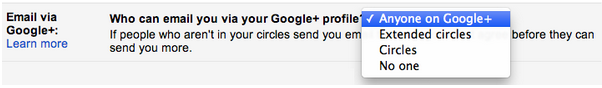 Update- Google allow you to send emails via Google+ without knowing the email address of others