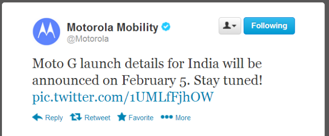 Best Value for Money smartphone Moto G will be announce on February 5 officially