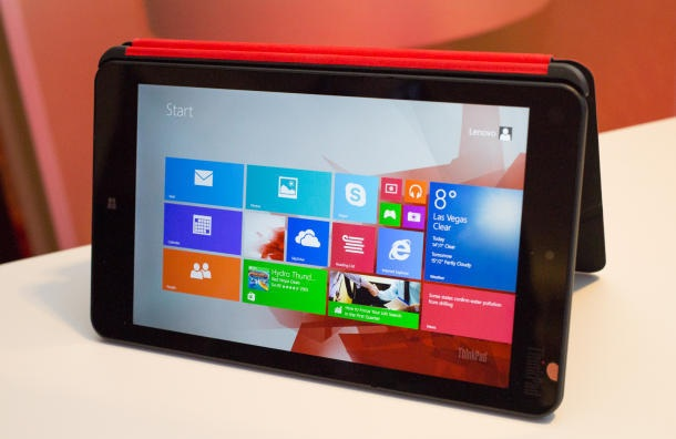 CES 2014:- Lenovo ThinkPad 8 best Windows tablet will launch in January