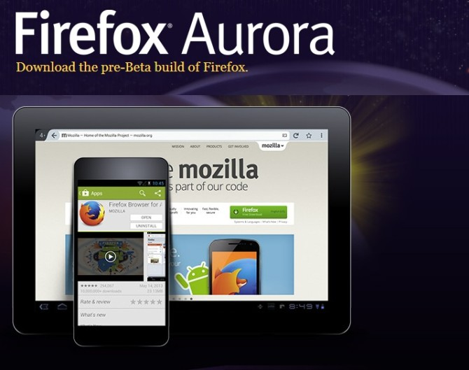 Mozilla Updates : More customize UI, Accounts with better sync features for Firefox Aurora