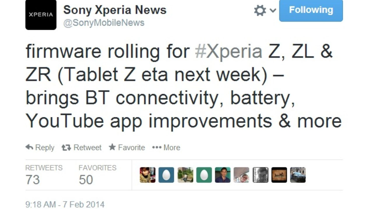 Sony Xperia Z, ZL and ZR getting Android 4 3 firmware update