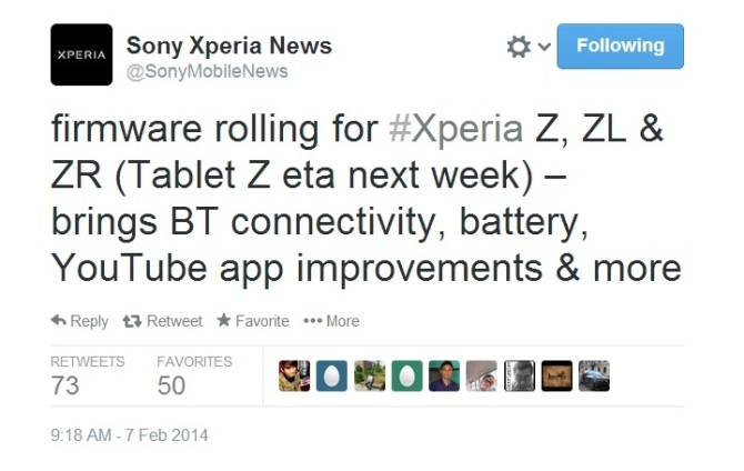 Sony Xperia Z, ZL and ZR getting Android 4.3 firmware update, battery and Bluetooth improved
