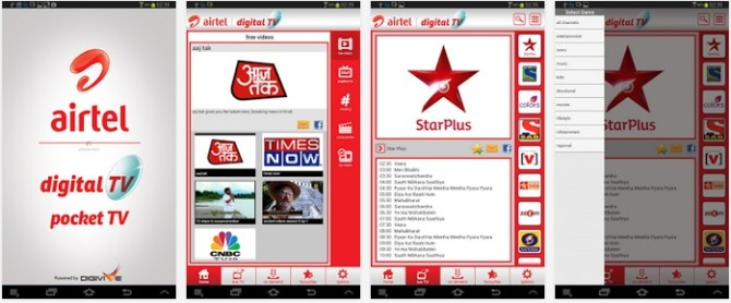Airtel launched Pocket TV app for Android users offers 150 TV channels worth INR 60 per month