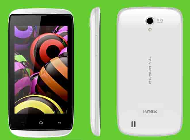 INTEX Cloud Y4+ available at company website at price INR 5,990 with dual core processor