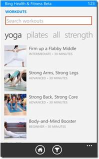 Bing Health And Fitness App Features (1)