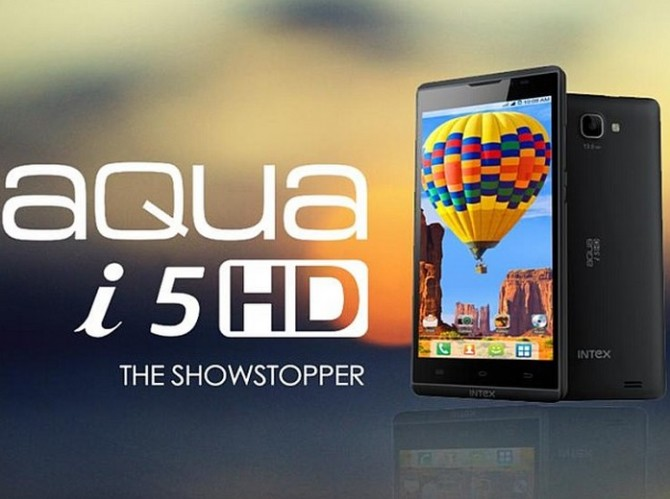 Intex Aqua i5 HD launched, Price, Availability, Specifications