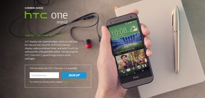 HTC One Mini 2 goes official, specifications and details