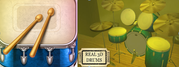 Real 3D Drums App
