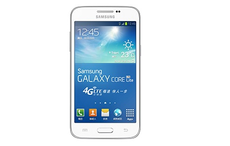 Samsung Galaxy Core Lite listed on company's official Korean website specifications and details