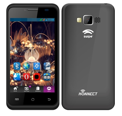 Swipe Konnect 4E 4-inch single core Android smartphone priced at INR3,499