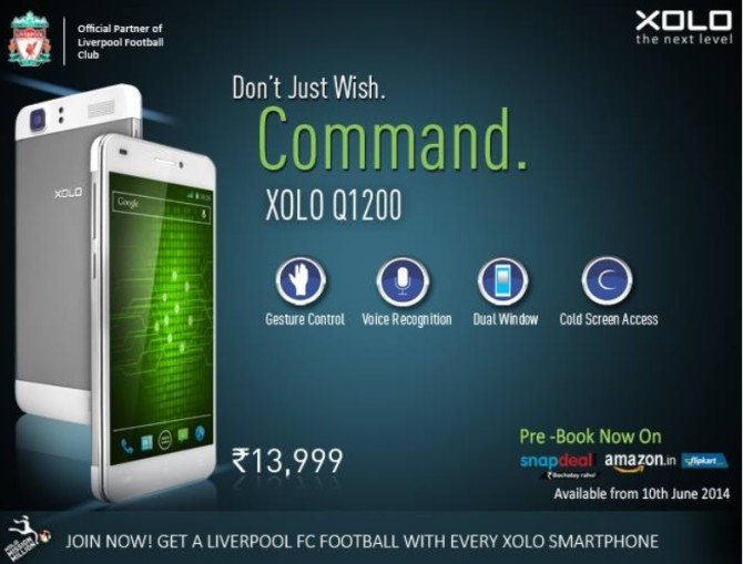 Xolo take on Moto G with Xolo Q1200 Android smartphone launched at INR13,999