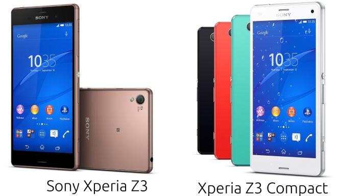 Sony Xperia Z3 & Z3 Compact