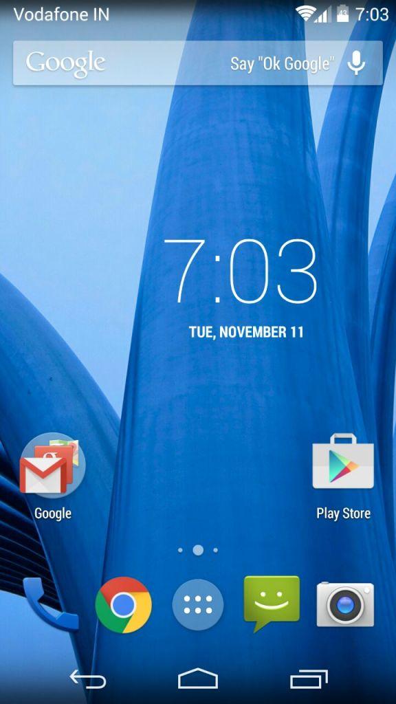 Moto X homescreen