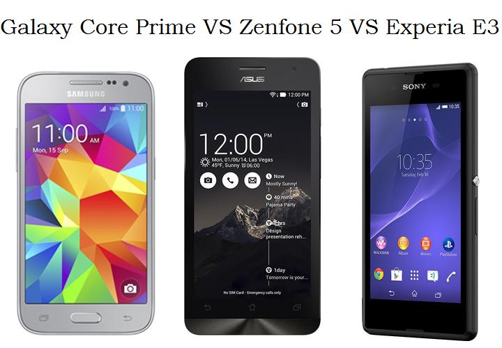 Galaxy Core Prime VS Zenfone 5 VS Xperia E3