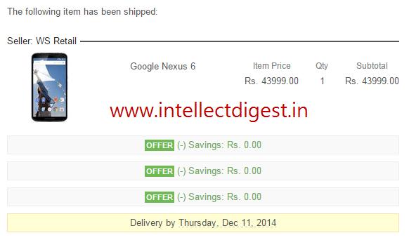 Google Nexus 6 Deliveries Start In India