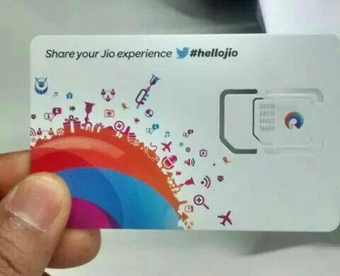 reliance jio sim card