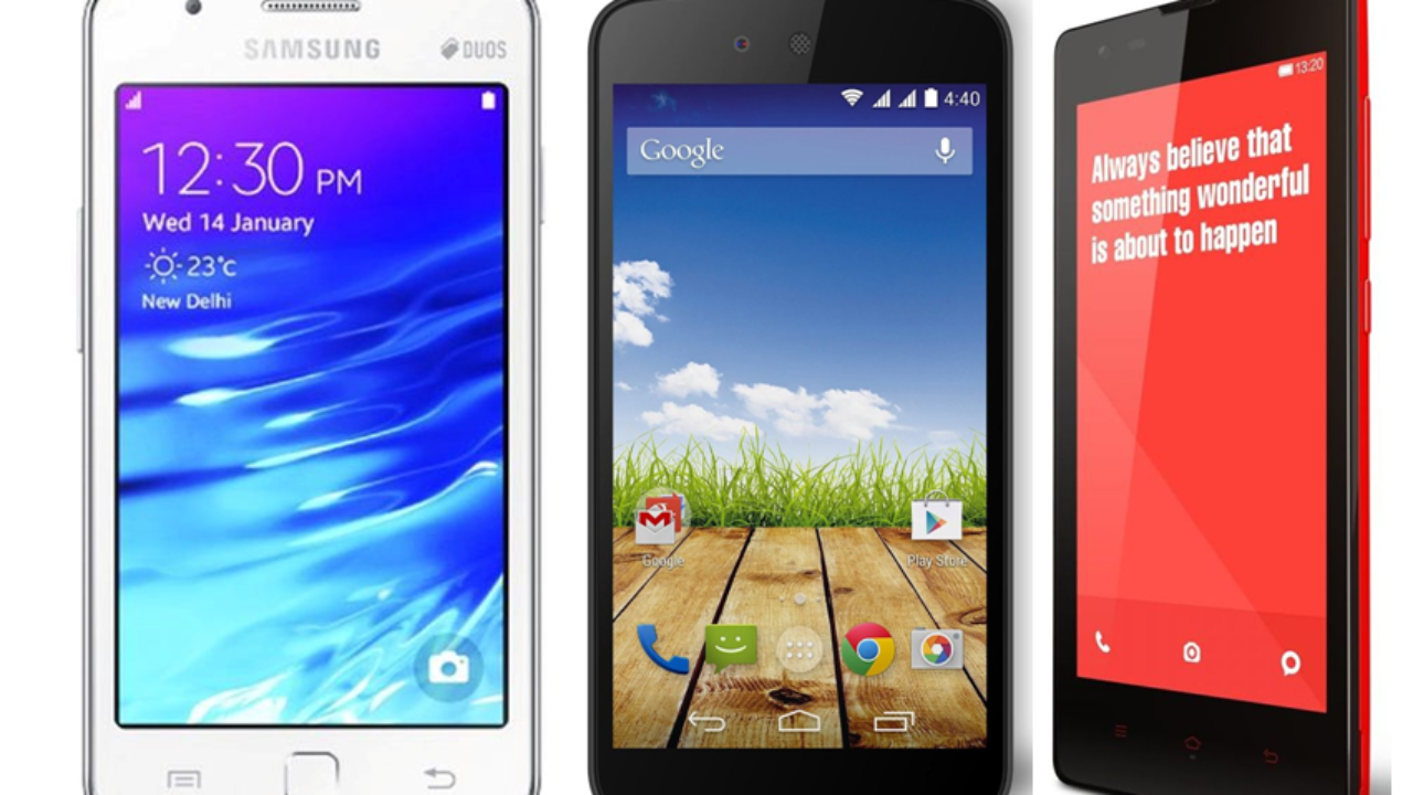 Samsung Z1 vs Xiaomi Redmi 1S vs Android One: Specifications