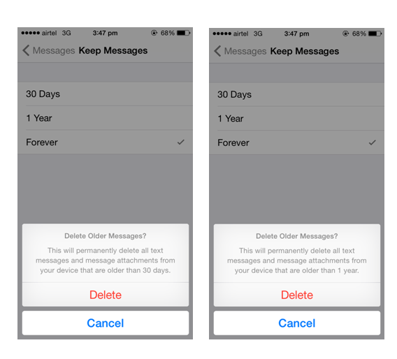 How to automatically delete old text messages on android phone and iphone-1