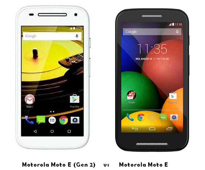 motorola moto e (gen 2) vs Motorola Moto E