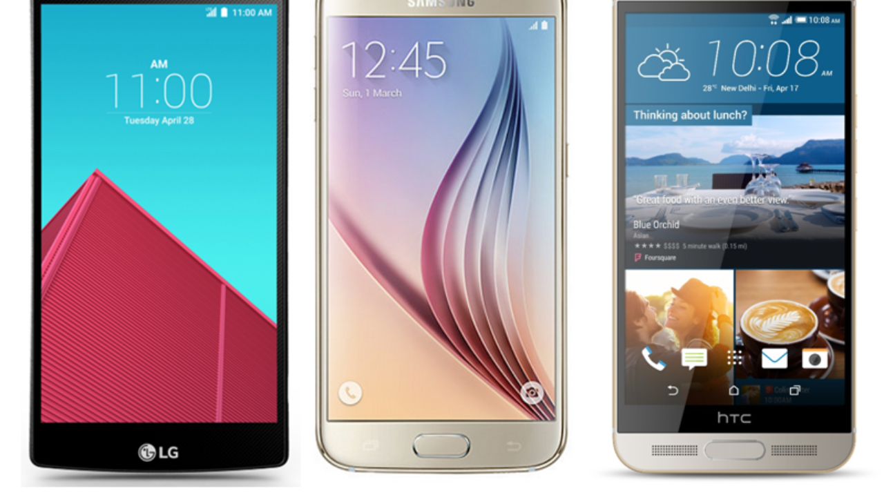 LG G4 vs Samsung Galaxy S6 vs HTC One M9+: Specs & Features