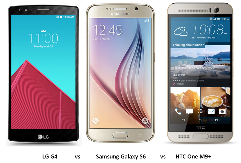 LG G4 vs Samsung Galaxy S6 vs HTC One M9+ (1)