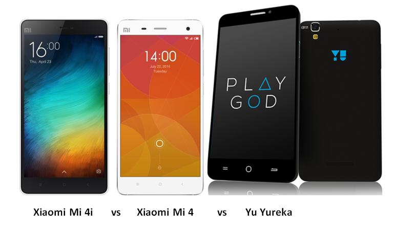Xiaomi Mi 4i vs Xiaomi Mi 4 vs Yu Yureka