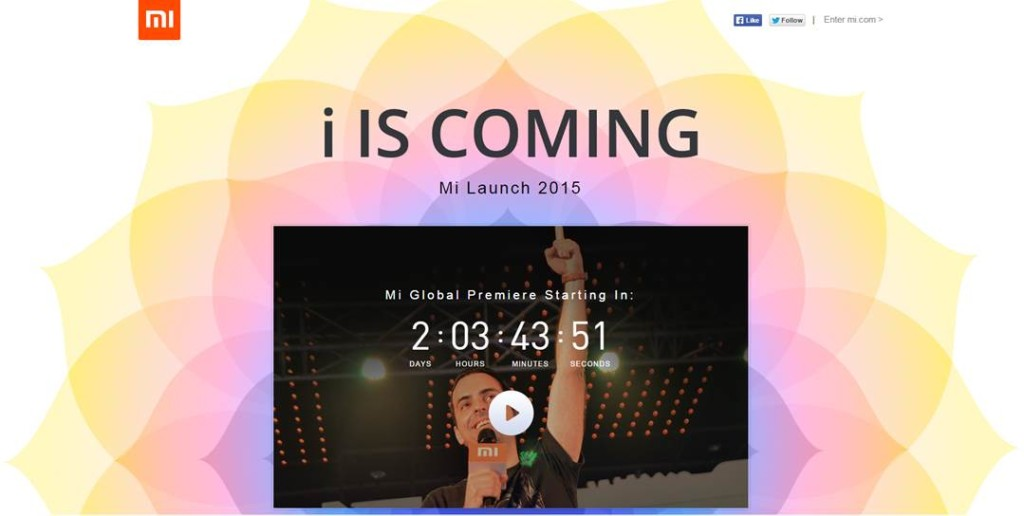 Xiaomi 'i is coming' event