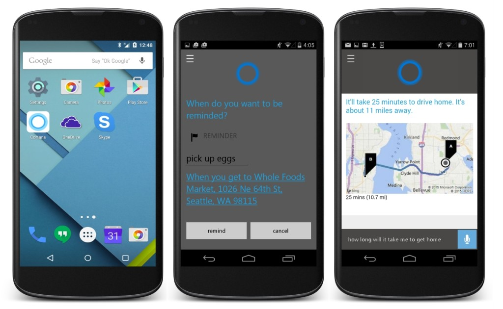 Cortana for Android and iOS -2