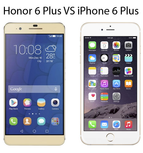 Features And Specifications Comparison Honor 6 Plus Vs Apple IPhone