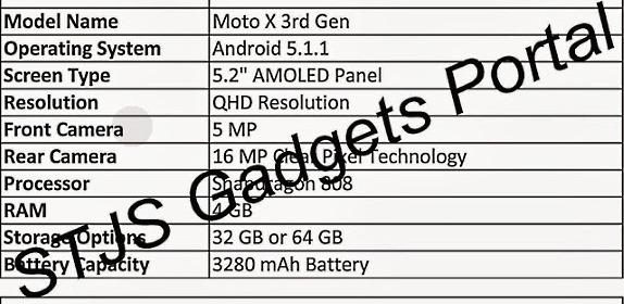 Motorola Moto X 3rd Gen