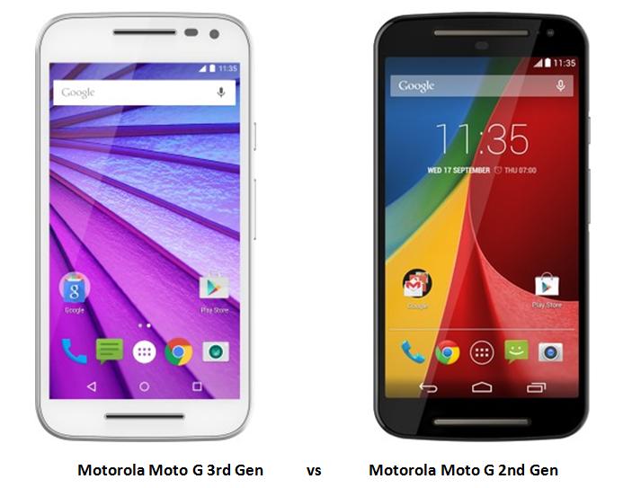 Motorola Moto G 3rd Gen vs Moto G 2nd Gen