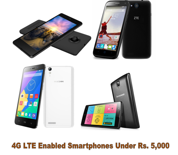Cheapest 4g LTE enabled smartphones