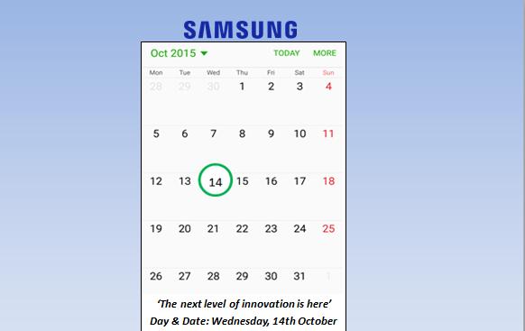 Samsung India invite