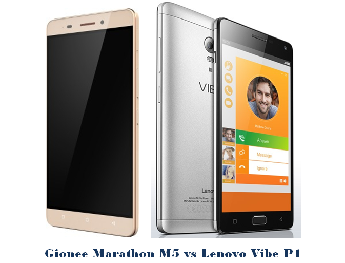 Gionee Marathon M5 vs lenovo vibe p1
