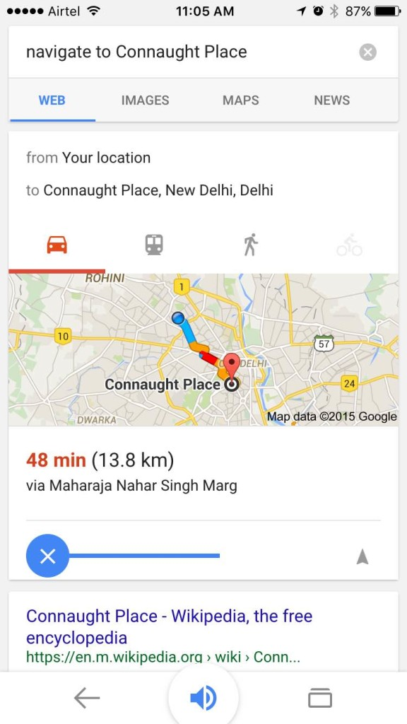 Use Google Maps With Voice Command On iPhone (5)