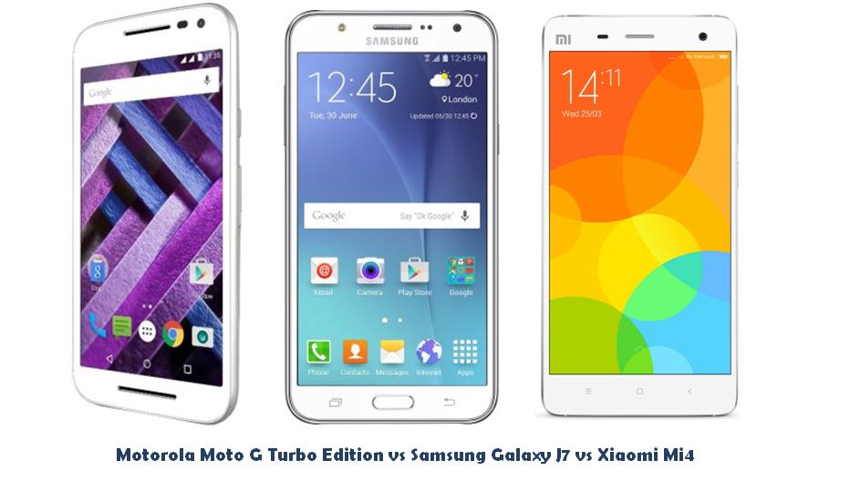 Motorola Moto G Turbo Edition vs Samsung Galaxy J7 vs Xiaomi Mi4