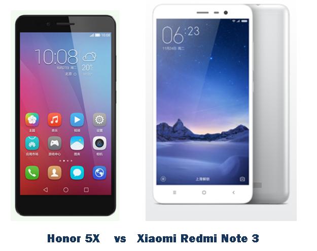honor 5x vs xiaomi redmi note 3