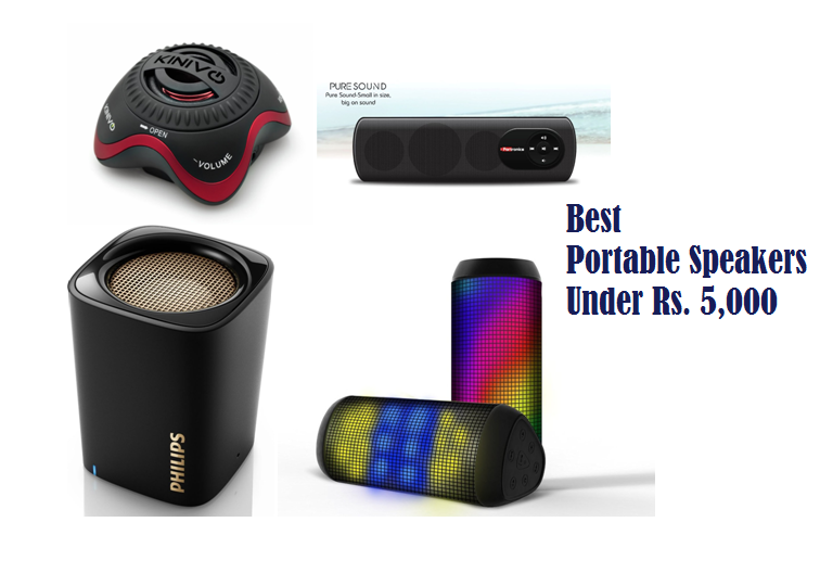 6 Best Portable Speakers Under Rs. 5000 Available In India