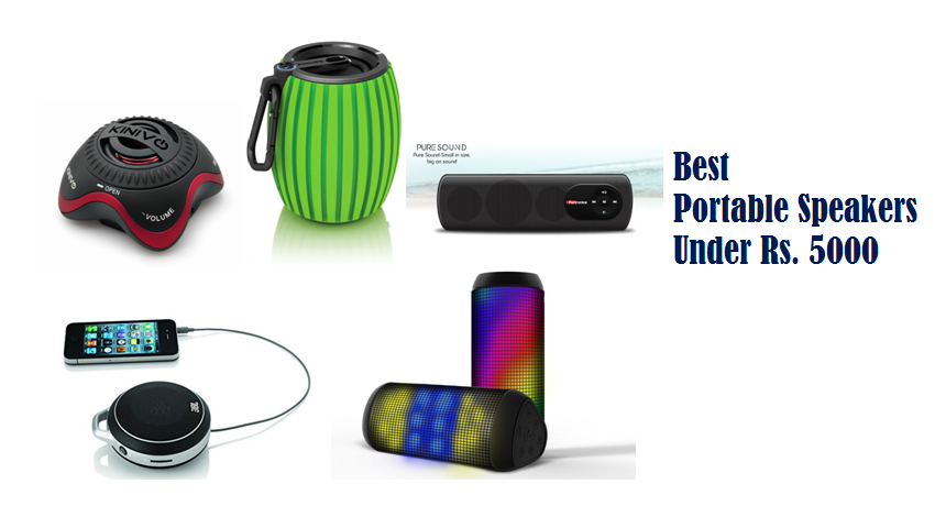 Best Portable Speakers Under Rs. 5000